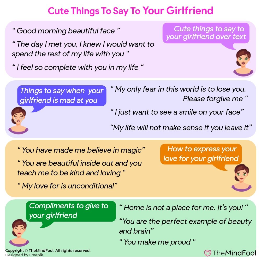 Cute things to Say to Your Girlfriend to Make Her Happy