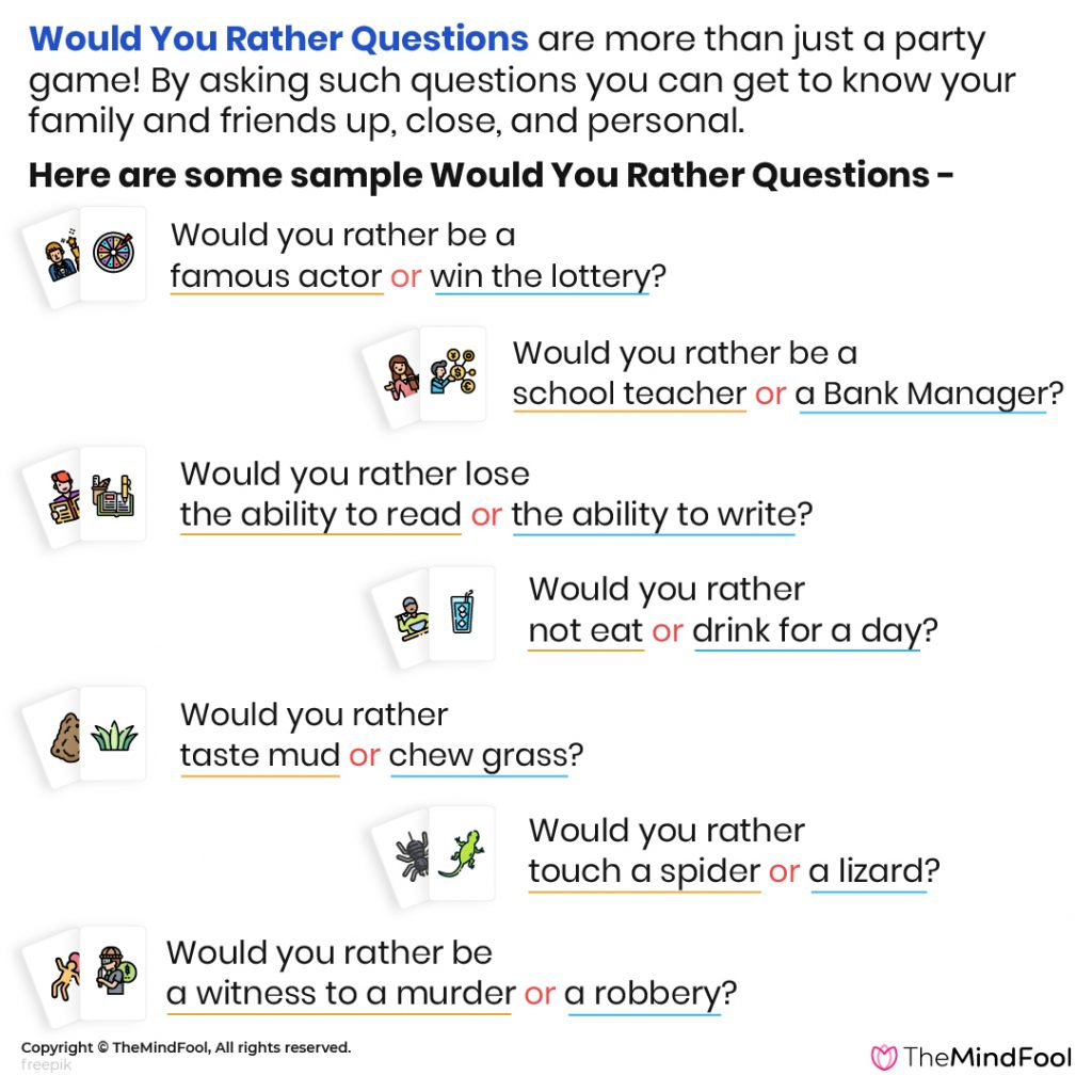 Impress Everyone with 251 Would You Rather Questions